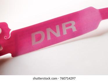Purple do not resuscitate bracelet