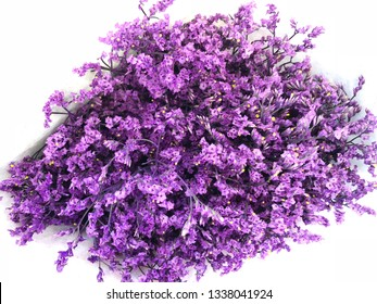 Purple dried wild flowers, dry flower vintage style