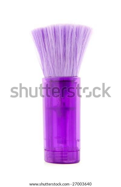 purple dust brush isolated on white background