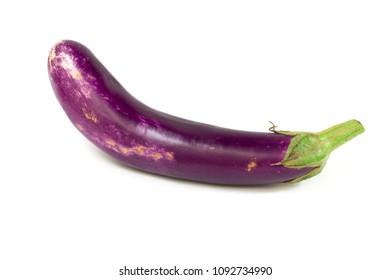 Purple egg plant isolated on white background
