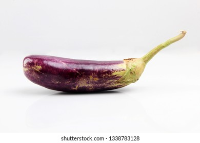 purple eggplant isolated from a white background