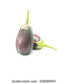 purple eggplant on white background