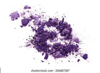 Purple eye shadow isolated on white background