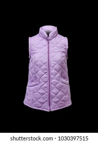 purple female vest with short sleeves