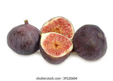 Purple figs on bright background