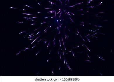 Purple Fireworks Lights on Dark