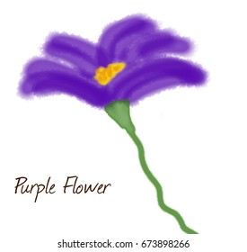 Purple flower watercolor painting.