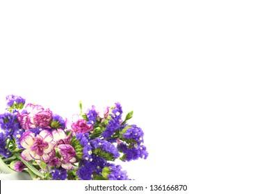 purple flowers, isolated