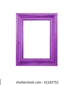 Purple Frame an white background