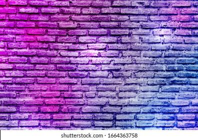 purple graffiti brick wall background