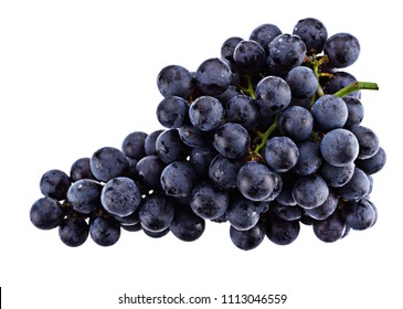Purple grape isolated on white background.