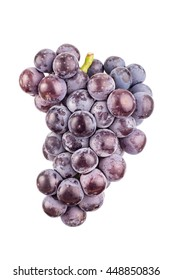 purple grapes isolated on white background.