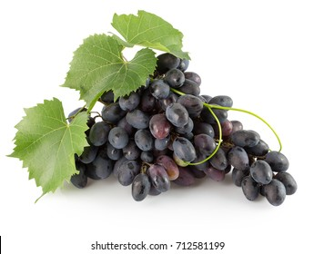 purple grapes isolated on a white background