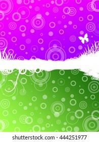 Purple / Green Background
