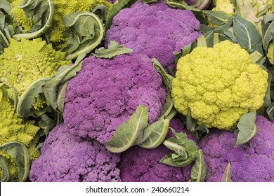 Purple and Green Cauliflower