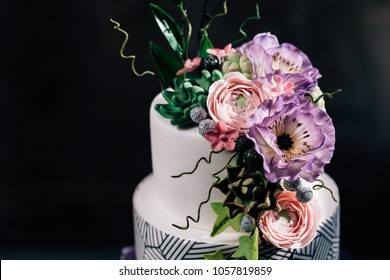 Decorations Flower Gold Purple Stock Images RoyaltyFree Images