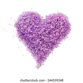 Purple heart of lavender bath salt