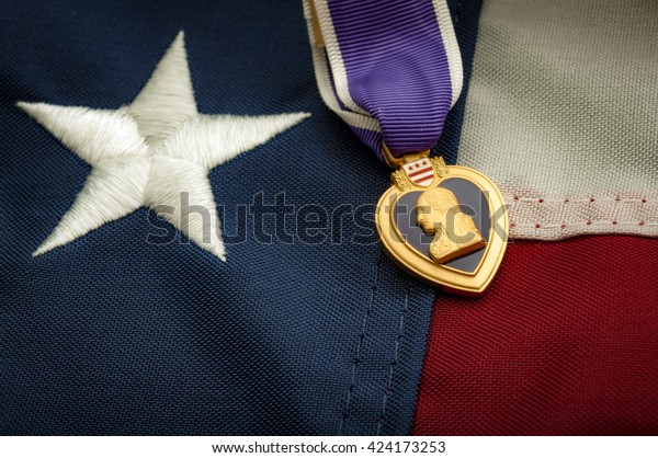 Purple Heart United States Military Decoration Stock Photo ...