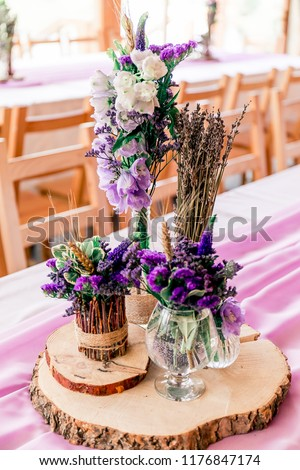 Purple Lavender Wedding Table Decor Dry Stock Photo Edit Now