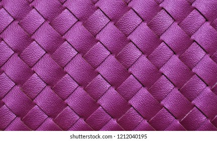 Purple leather woven texture background.