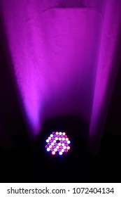 purple led uplighting