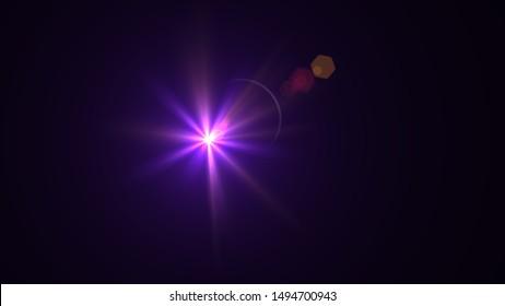 Purple light glow lense flare