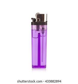 purple lighter on white background.