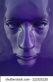 Purple Liquid Face