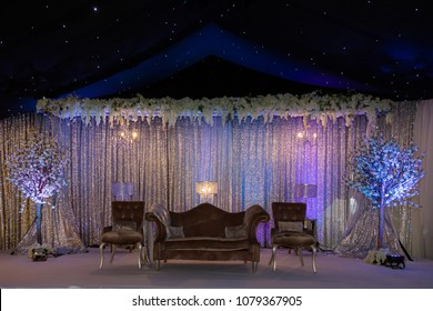 Purple wedding images stock photos vectors shutterstock purple night themed wedding stage decor junglespirit Images