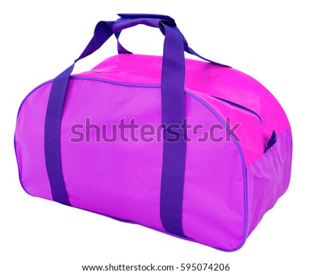 c77f9eb4a2 Purple Nylon Sports Bag Isolated Clipping Stock Photo (Edit Now ...