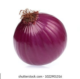 purple of onion isolated on white background