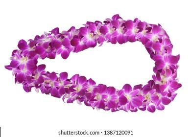 Purple orchid lei always use on Graduation Day