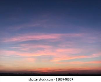 purple pink sky, summer sky, summer sunset