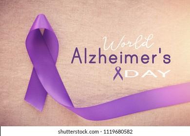 Purple ribbons, world Alzheimer's day