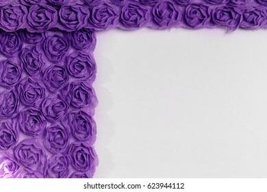 Purple rose background fabric - macro photo