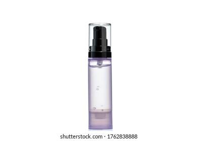 purple sanitizer gel isolated on white background