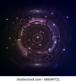 purple Sci fi futuristic user interface.