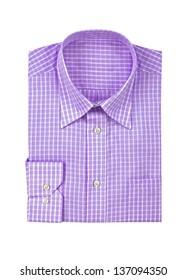 purple shirt isolated on white background