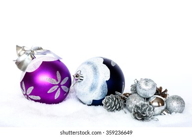 Purple And Silver Christmas Tree Decorations  from image.shutterstock.com