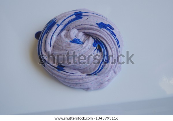 Purple Slime Blue Drops Food Coloring Stock Photo (Edit Now ...