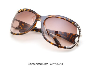 Purple sun glasses isolated over the white background