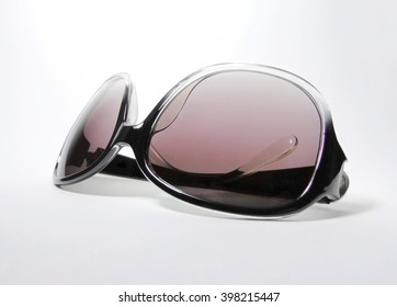 Purple sunglasses, isolated object