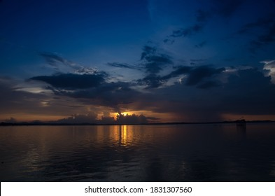 Purple sunset with cloud strom background day night Dramatic sunset sky Red purple cloud sunset sky. Songkhla. Thailand - Shutterstock ID 1831307560