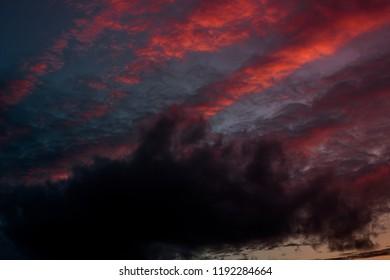 Purple sunset sky