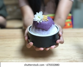 Purple sweet potato Shaved ice Korea style