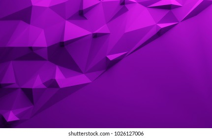 Purple triangular textured lowpoly background