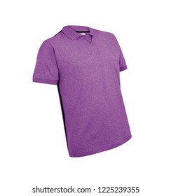 purple t-shirt isolated on white background