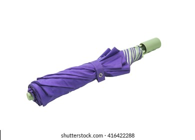 purple umbrella with isolated on white background