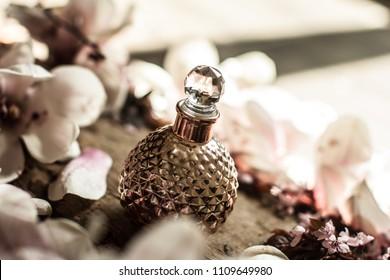 Purple vintage perfume bottle