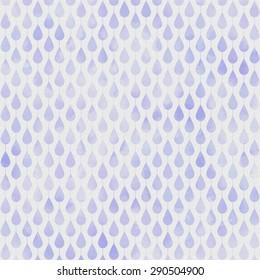 Purple Watercolor Drop Pattern on White Background